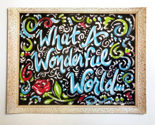 What A Wonderful World Magnet