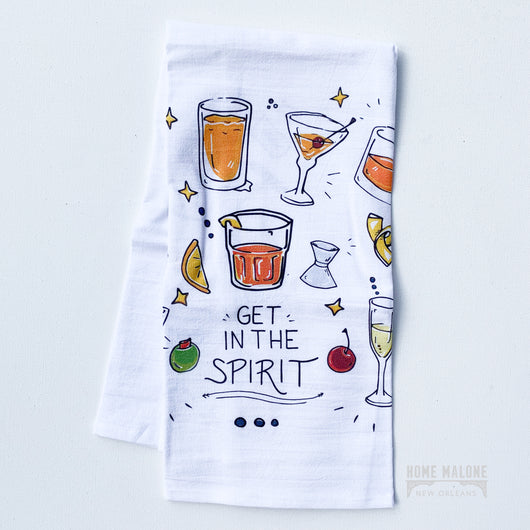 Get In The Spirit: Cocktail Towel