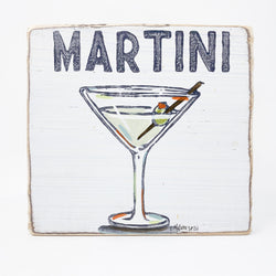 Home Malone Wood Cocktail Art Martini Kitchen Sign