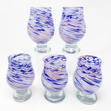 Glass Tumbler - Purple & Blue