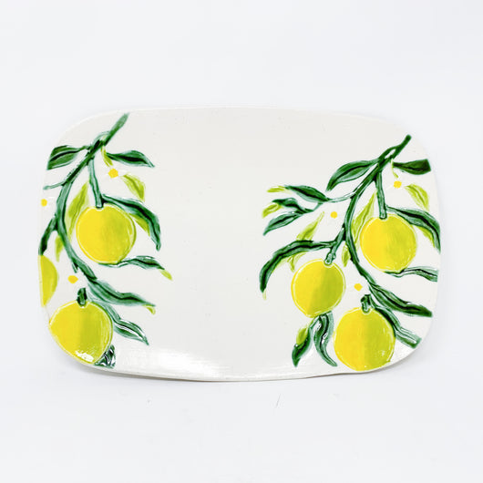 Ceramic Lemon Serving Platter Cheese Board