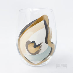 Stemless Wine Glass: Single Oyster
