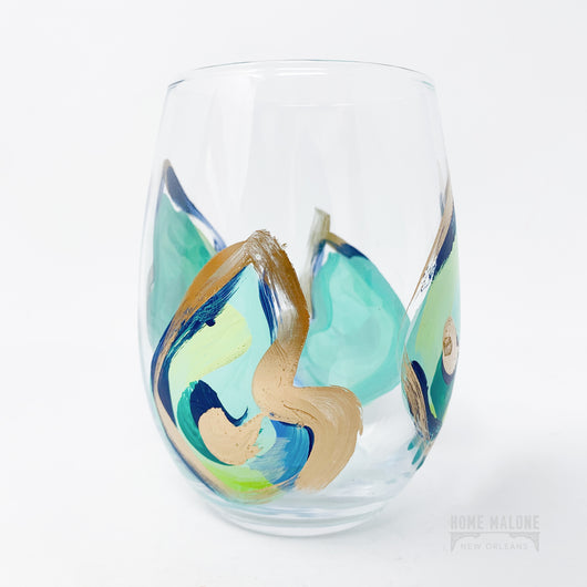 Stemless Wine Glass: Blues