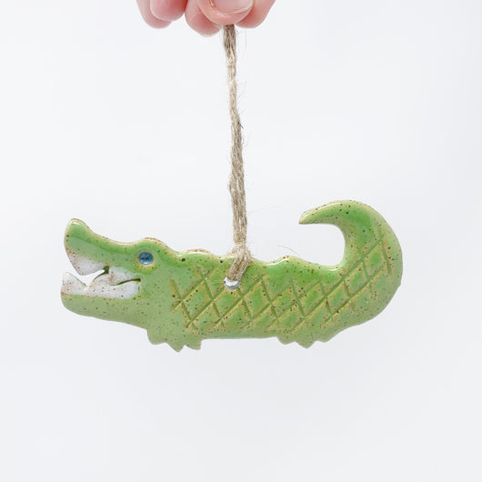 Ceramic Alligator Ornament