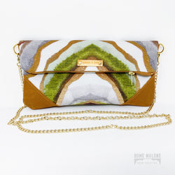 Moss Folded Clutch/Crossbody