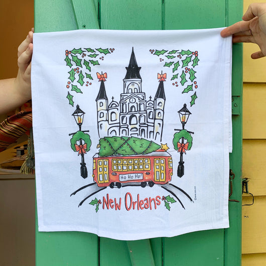 New Orleans Christmas Holiday Towel - Home Malone