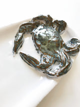 Long Ceramic Crab Platter: Large