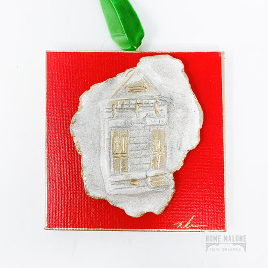 Shotgun House Canvas Ornaments