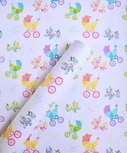 Baby Carriage Gift Wrap