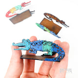 Metal Alligator Card Holder