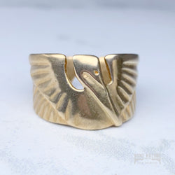 Mimosa Handcrafted Petite Pelican Cuff Ring