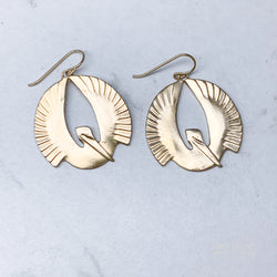 Mimosa - Pelican Earrings