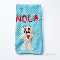 voodoo doll dish towel New Orleans