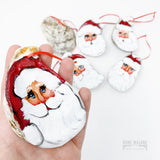 Santa Claus Oyster Shell Ornament