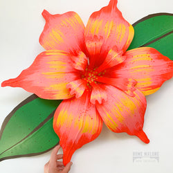 Medium Carnival Flower / 2 Leaves