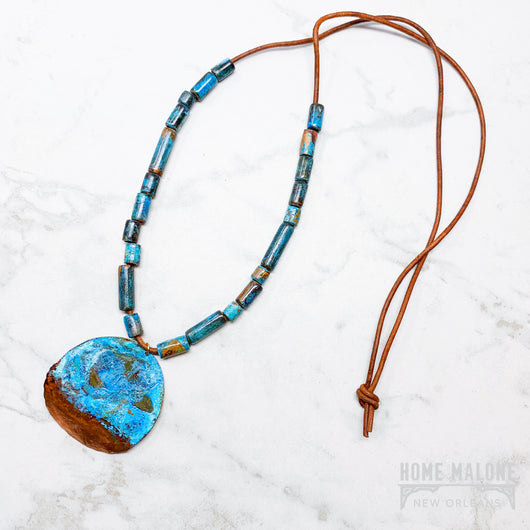 Patina Copper Bead Necklace