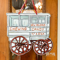 Roman Candy Cart Door Hanger