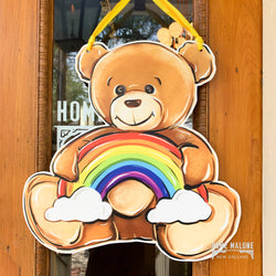 Rainbow Bear Door Hanger