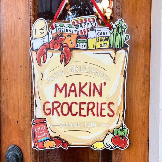 Makin' Groceries Door Hanger
