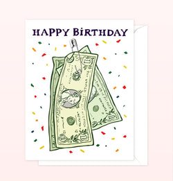 Dollar Bill Birthday Card
