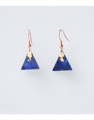 Gilded Triangle Earrings