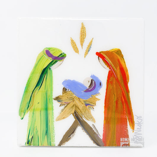 Nativity in Bright Colors Painting