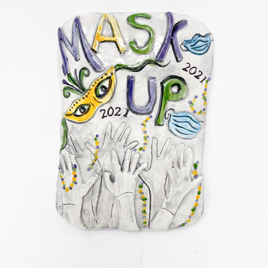 Mask Up Ceramic Plaque