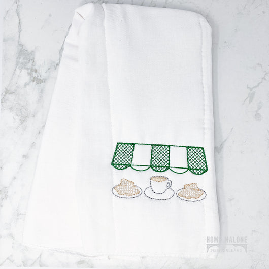 Coffee & Beignet New Orleans Baby Burp Cloth