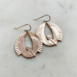 Mimosa Handcrafted Pelican Earrings