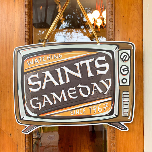 Saints Game Day Door Hanger