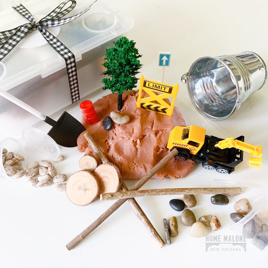 Construction Site Sensory Play Box