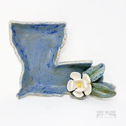 Ceramic Louisiana Magnolia Dish