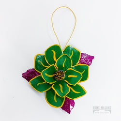 Handmade Flower Ornament Mardi Gras New Orleans