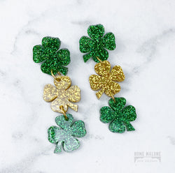Clover Dangle Acrylic Earrings
