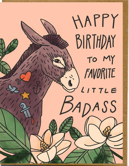Badass Birthday Card