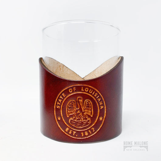 LA State Seal Lowball Glass