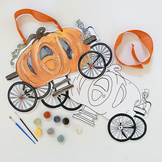 Pumpkin Carriage Door Hanger Paint Kit
