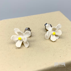 Ceramic Magnolia Stud Earrings