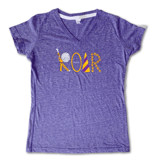 ROAR LSU Ladies V-Neck Tee