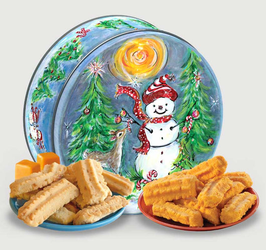 Cookie & Cheese Straw Holiday Tin