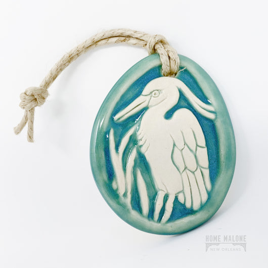 Egret Ceramic Ornament