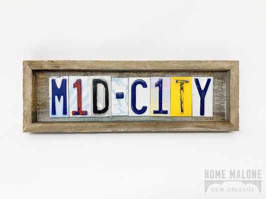 Mid City License Plate Art