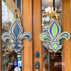 Double Sided FDL Door Hanger: Mardi Gras / Saints