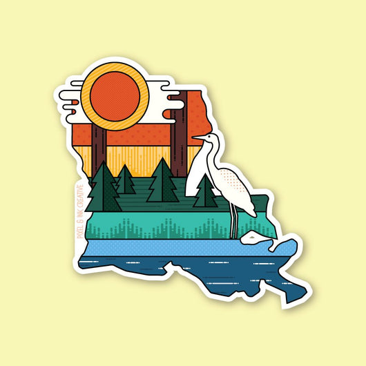 Louisiana Layers Vinyl Sticker