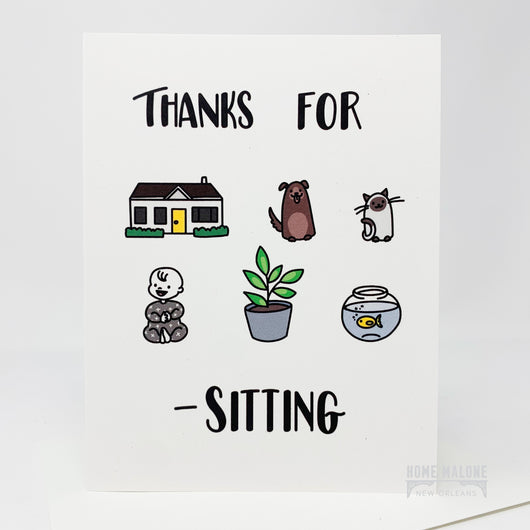 Thanks Sitting Card