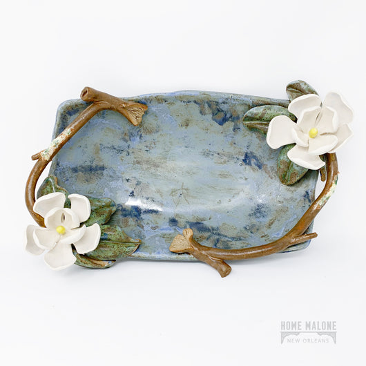 Ceramic Magnolia Serving Bowl