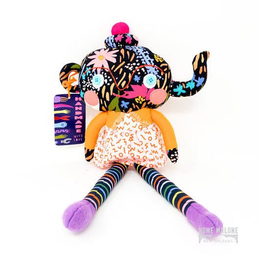 Whimsical handmade tea pot doll by Pink Cheeks Studio, Handmade in Louisiana, Gifts for New Orleans Kids