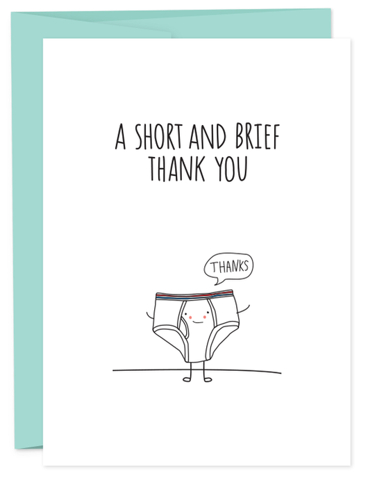 Short and Brief Thank You Card