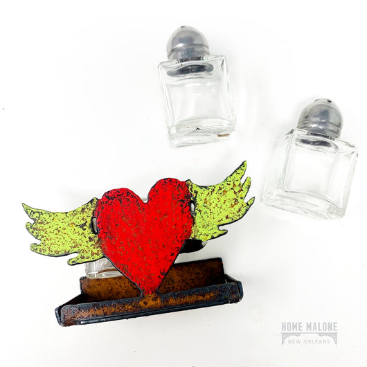 Winged Heart Salt & Pepper Holder