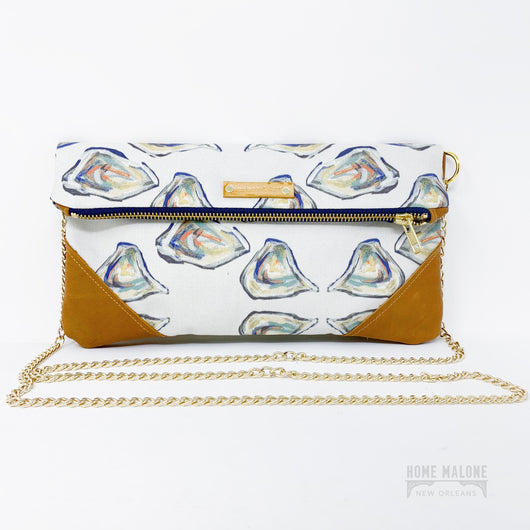 Oyster Folded Clutch/Crossbody